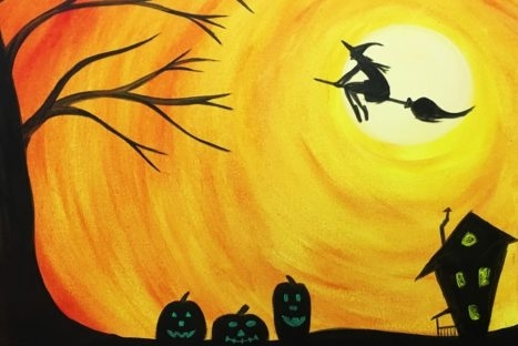20 tuesday halloween theme spin n paint studio local event in