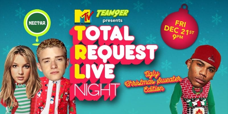 Trl Total Request Live Night Ugly Xmas Sweaters Edition At Nectar